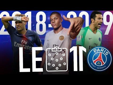🔵🔴 LE 11 INCROYABLE DE PARIS VERSION 2018-2019   Mbappé, Neymar, Buffon, Cavani, etc