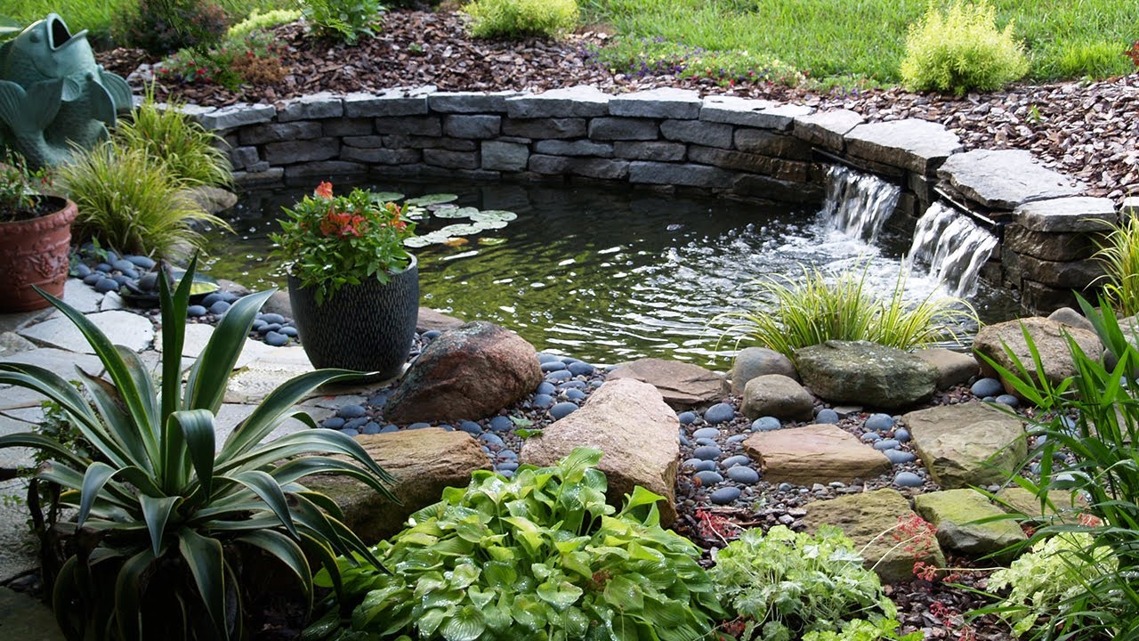 Koi fish pond garden design ideas 2017 youtube for Small pond house plans