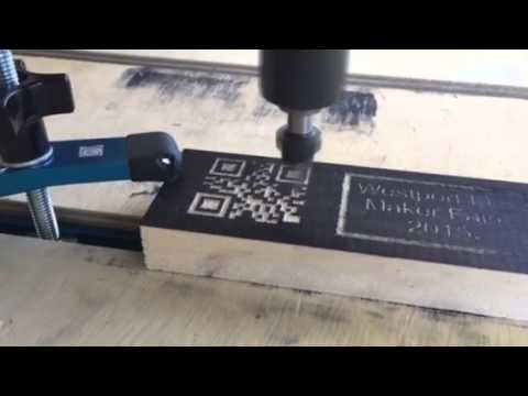Carving QR codes in wood