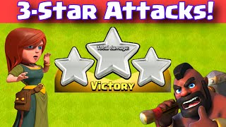 Clash Of Clans THREE STAR ATTACK STRATEGY | Clan War 3 Star Hybrid Attacks TH9