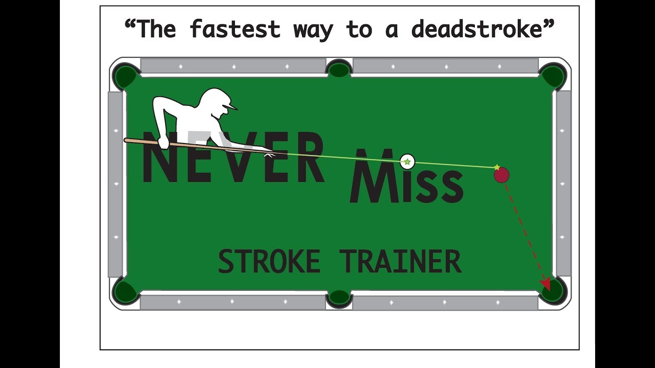 A Pool Stroke Trainer & aiming aid, the quickest way to a dead stroke