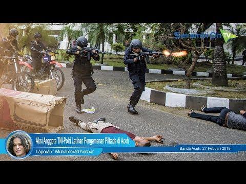 Aksi Sigap Anggota TNI Polri Latihan Pengamanan Pilkada Di Aceh