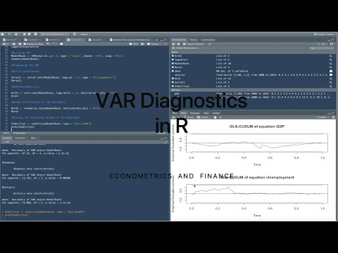VAR Diagnostics In R
