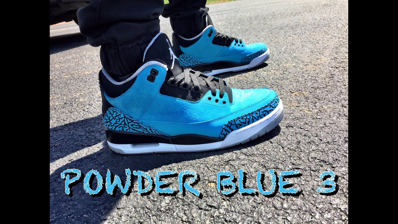 3dc6ef0c1936b9 ... low cost air jordan retro 3 powder blue on feet 4e4d6 be708