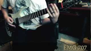 Keith Merrow- EMG 707/EMTY Blackout 7 Comparison (High Gain Metal- Bridge)