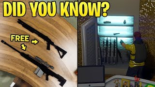 GTA Online DID YOU KNOW? - The Nightclub Has 6 FREE Weapons You Can Pickup + A Gun Locker