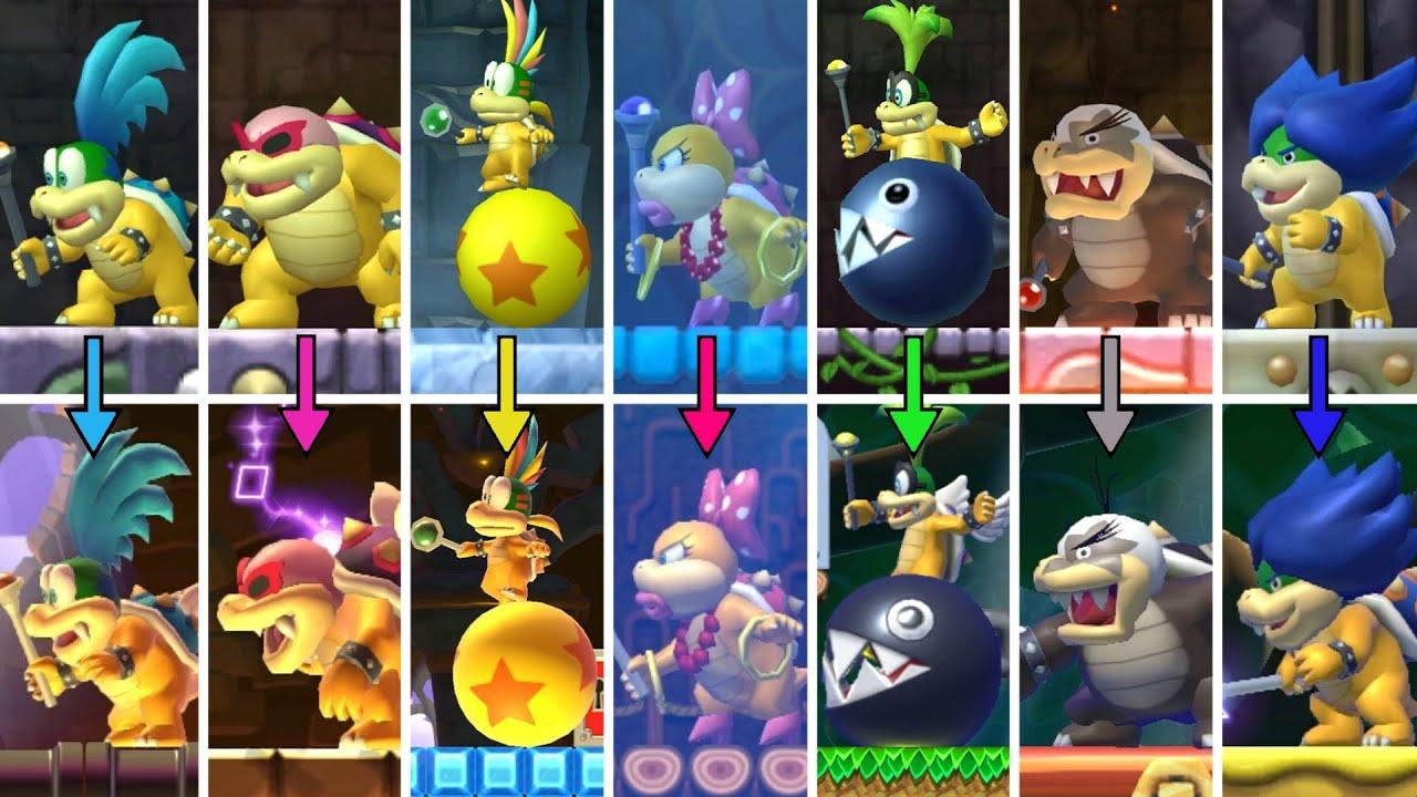 New Super Mario Bros Wii Koopaling Boss Rush Recreated In Super