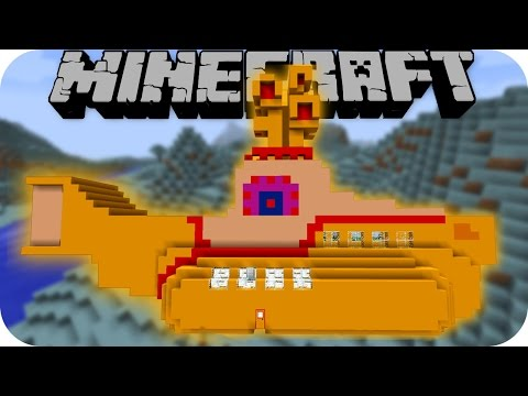 Minecraft YELLOW SUBMARINE MOD (U-Boot, Pepperland, Blaumiesen) [Deutsch]