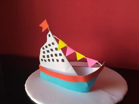 DIY Home Decor -  Paper Crafts - How to Make a Paper Ship + Tutorial !