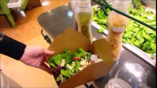 США. Мой любимый салат в Америке, магазин здоровой еды
