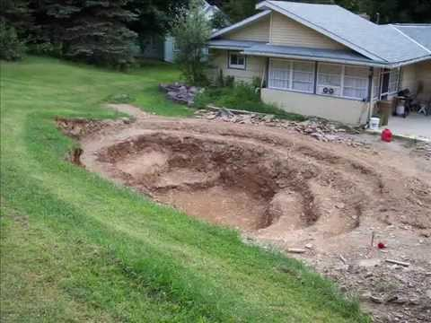 30 000 gal pond construction cost 2009 youtube for How to build a small lake