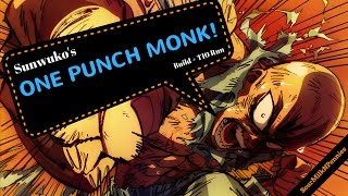 [D3:S8] Sunwuko's ONE PUNCH MONK! Build+T10 Run (Patch 2.4.2)