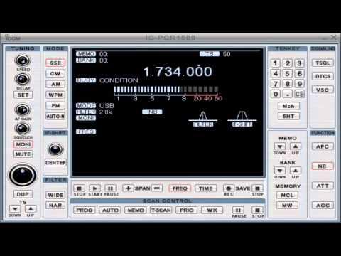 "1.734,00 MHz. Callsign""OXZ""   Blaavand Radio, Denmark"