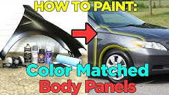 How to Paint a Vehicle Fender with Spray Paint - Cheap & Easy!