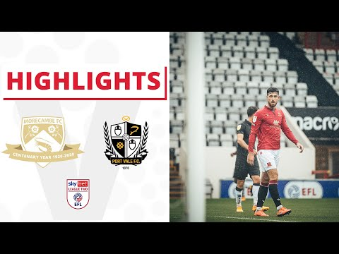 Morecambe Port Vale Goals And Highlights
