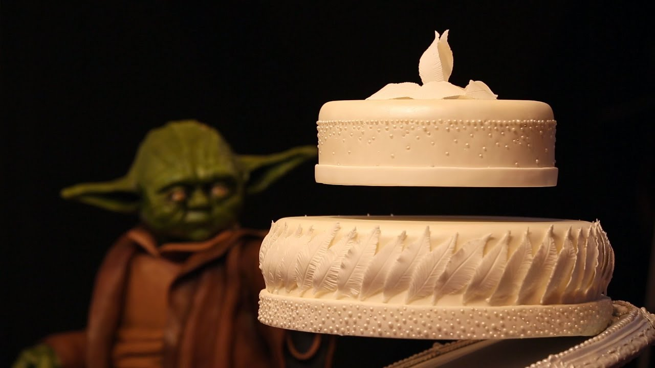 Yoda levitates cake with the force - steals the show - YouTube