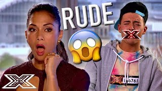 REJECTED Contestant Is RUDE To The Judges   X Factor Global