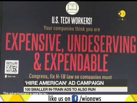 Anti-H1B posters put up at train stations in US
