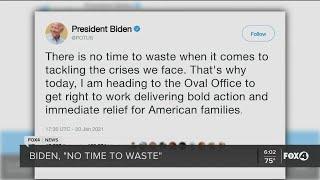 Biden hits the ground running