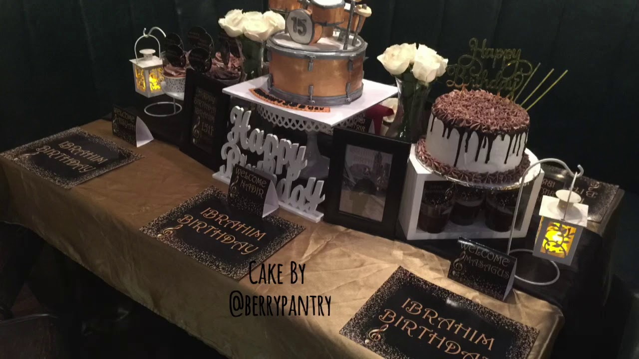 Download Black And Gold Decoration For Birthday Party