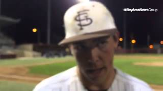 @wcalsports pitcher of year John Gavin of St. Francis after win Thursday over Bellarmine