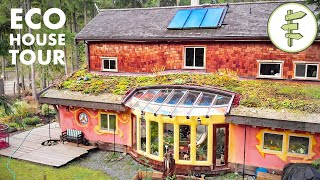 Unique Sustainable Home Built with Nearly 100% Natural Materials - Green Building Tour