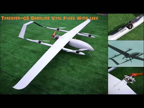 Thresher-03 Gasoline Vtol Fixed Wing Uav - Drone for Mapping & Surveillance - Quad Plane