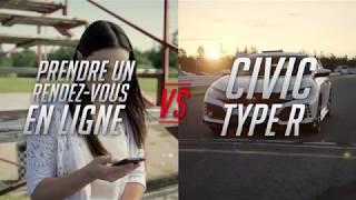 Honda Pièces et service – Test de vitesse : prise de rendez-vous ligne vs Civic Type R