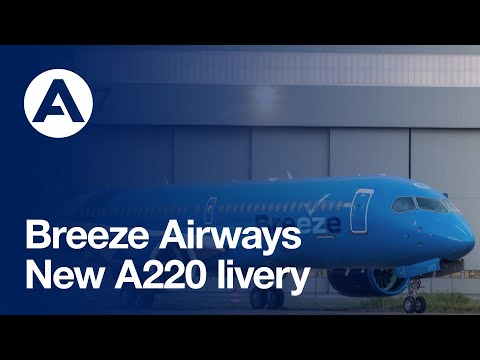 Breeze Airways reveals new #A220 livery