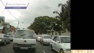 WATCH: Motorist puts law-breaking taxi in his place. Literally.
