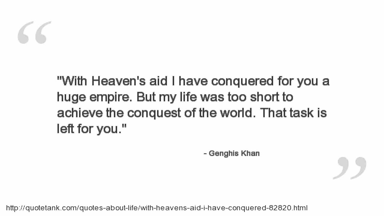 genghis khan quotes blood and bone