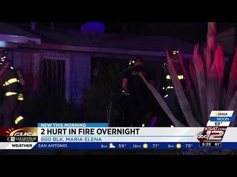Man hospitalized, woman treated for smoke inhalation after house fire