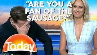 'Are you a fan of the sausage?' News Blooper | TODAY Show Australia