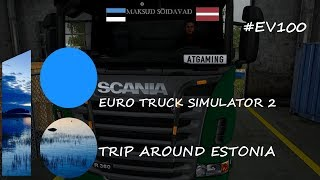 Trip around Estonia #EV100 | Timelapse | Euro Truck Simulator 2