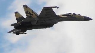 Su-35 СУ-35 100 лет ВВС России Russian Air Force 100th Anniversary Air Show 2012