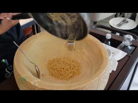 Cooking Pasta Inside a Grana Padano Cheese Wheel in Bangkok
