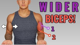 How To Get WIDER/THICKER Looking Biceps (Full Biceps Workout)