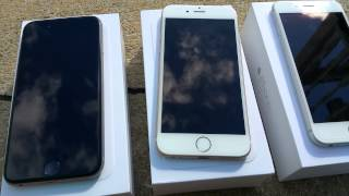 iPhone 6 gold, silver, and space grey comparison