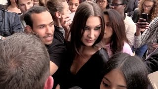 EXCLUSIVE:  Bella Hadid HARASSED by fans at her notel in Paris after Dior show