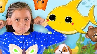 Baby Shark + Baby Animal Sounds Song and Dance