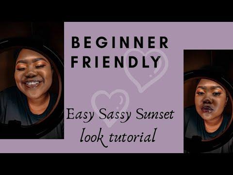 sassy sunset look  beginner friendly tutorial 💯  youtube
