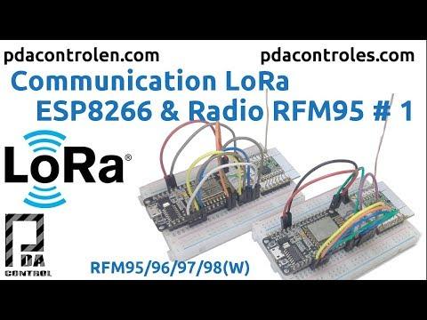 Communication LoRa ESP8266 & Radio RFM95: 9 Steps