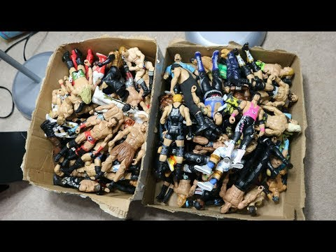 TWO MASSIVE BOXES FULL OF WWE FIGURES! (FOR TRADE)