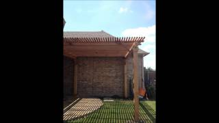 Patio Cover And Cedar Arbor In Allen Texas By Rainy Day Restoration, Roofing And Repairs