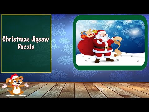 Christmas Jigsaw Puzzle: Funny Games for Preschool Baby Toddlers. Best Christmas Songs for Kids