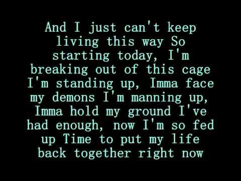 Eminem- Im not Afraid lyrics on screen & discription