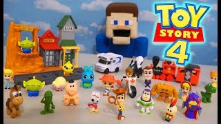 TOY STORY 4 Movie Minis Figures Playset, Blind Bag, Vehicles HUGE Unboxing
