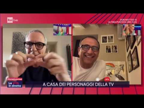 A casa di: Leonardo Pieraccioni, Carlo Conti e Giorgio Panariello - La vita in diretta 19/03/2020