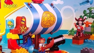 Lego Duplo Pirate Jake And Neverland Pirates With Captain Hook And Pirate Ship Bucky Toy With Cannon