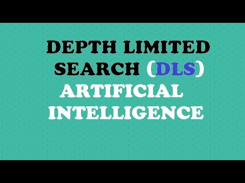 depth limited search (dls) algorithm example(artificial intelligence)